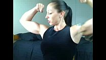 Strong Mistress with huge biceps