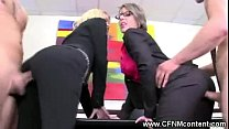 CFNM office sluts fucked with hard cock 3