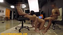 """LOUD MOANING MONSTER COCK THREESOME WITH MY 9"""" ..."""