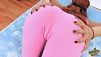 perfect ass teen has the most sexy cameltoe in tight pants.