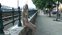 Sweet blonde teen Karol nude in public Thumbnail