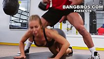 bangbros   big tits babe nicole aniston gets her pussy worked out in the gym