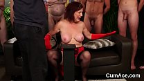 Wicked bombshell gets jizz shot on her face swa...