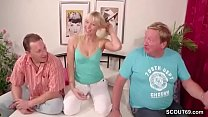 German Couple in First Time Threesome With Stra...
