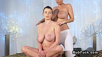 room massage in boobs huge lesbian of pairs Nice