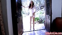 julia ann comes over and strips down