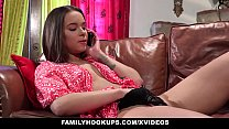 FamilyHookups- Sexy Teen Liza Rowe Caught Mastu...