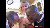 Big orgy with two sluts milf in the kitchen of ...