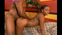 Black babe cum inside her pussy doggystyle