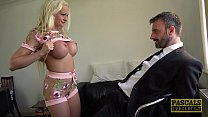 Brit MILF dominated and fucked roughly by big d...