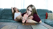 ber lee and ashlynn worship each others feet
