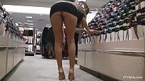 girl shows off her goods while shopping at the ... Thumbnail