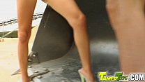 Tamed Teens Hot teen pussy comes special delivery for these guys porn videos