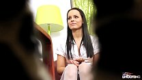 FakeShooting Super hot babe Kari eat the cum o...