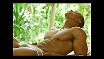 Sexy Black Muscle Man Strokes and Cums Thumbnail