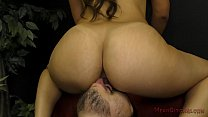 Mean Latina Girlfriend Makes Her SlaveBoy Worsh...