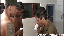 Its too late to back out of your first gay threesome - download porn videos