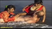wild indian sex fun on the beach Thumbnail
