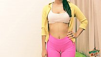 Latina Teen Cameltoe Stretching in Tight Lycra ...