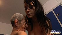 Young girl is so kinky that fucks an old fart i...