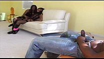 Hot threesome between Jada Fire and Misty Stone Thumbnail