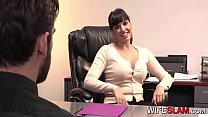 Sneaky Cockwhore Boss Unfaithful To Partner Wit...