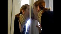 Redhead GF Gives Closet Gloryhole Blowjob
