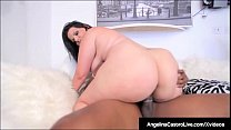 Cuban BBW Angelina Castro Sits On Big Black Coc... Thumbnail