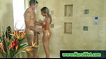 Busty masseuse gives pleasure during massage 14