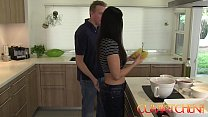 CUM KITCHEN: Hot Brunette MILF India Summer get...