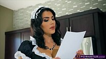 Busty brunette maid Valentina Nappi double pene... thumb