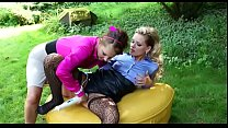 Cute lesbo enjoys getting her little clitoris titillated
