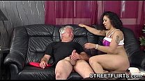 Brunette German amateur babe fucks pervert cast...