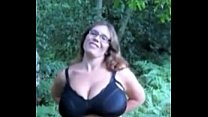 pawg milking in the woods