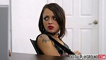 Tiny teen Holly Hendrix gets punished by cop - DigitalPlayground - download porn videos