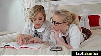 Amateur Lez Teen Girls (Haley Reed & Bailey Brooke) Kiss Lick And Play In Sex Tape clip-12
