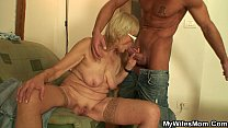 table the on pussy mother girlfriends old Fucking