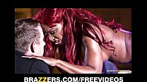 Perky ebony stripper gets fucked hard in the ass on stage - download porn videos