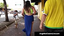 Cuban BBW Angelina Castro Takes A Hungry Cock I...