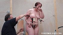 Bizarre fat slave punishment and homemade tools...