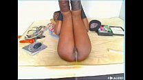 Black girl pee on the bed