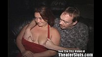 Wild stripper Melissa fucks a theater full of s...