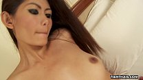 thai model gets her sweet wet pussy filled up