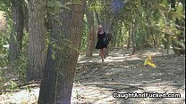 Busted candle fucker blows in forest
