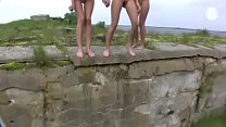girls pee outdoor