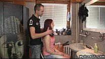 redhead girl cheats with his bf s bro
