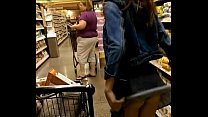 18yr old teen flashing ass in the store
