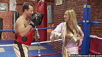 Busty Blonde Boxer Gets A Sexual Workout