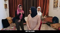 BFFS - Shy Inexperienced Poonjab Girls Fuck In Their Hijabs - download porn videos