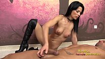 Boots domination hand job with dark vixen Thumbnail